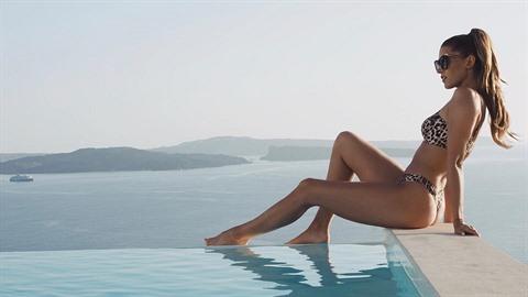Tereza Kerndlová si užívá moře, které je, jak sama říká, magické.