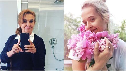 Eva Holubová tleská Tamaře Klusové za její slova o mateřství.