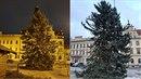 Vánoční strom v Kladně prošel značnou proměnou.