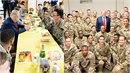 Donald Trump navštívil americké vojáky v Afghánistánu. Oslavil s nimi...