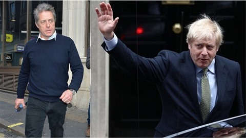 Hugh Grant nenese vítězství Borise Johnson vůbec dobře.
