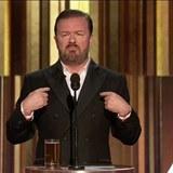 Britský herec a komik Ricky Gervais Zlaté glóby moderoval popáté.