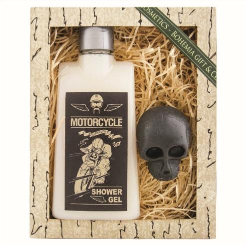 Kosmetická sada Motorcycle Vintage se sprchovým gelem (250 ml) a ručně vyráběným mýdlem, Cena: 129 Kč