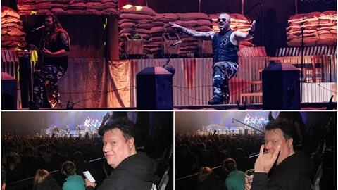 Timo Tolkki se na metalovém koncertě fotil s fanoušky.