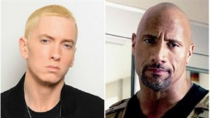 Eminem a Dwayne Johnson