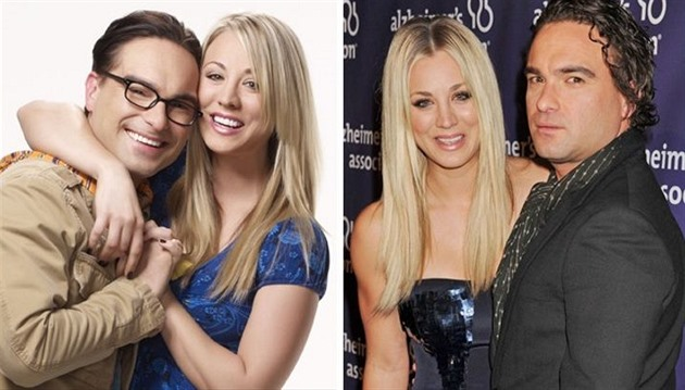 Kaley Cuoco a Johnny Galecki - The Big Bang Theory