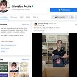 Facebook Miroslava Pocheho našel nové využití.