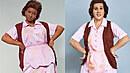 Markéta Konvičková a Roman Vojtek jako Aretha Franklin. Stejný kostým, jinak...