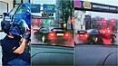 BMW nadšenec Ilja a jeho show na frekventované pražské ulici.