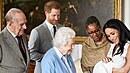 Meghan Markle s princem Harrym a synem Archiem Harrisonem na návštěvě u britské...