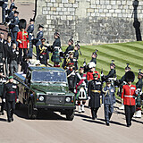 In this handout photo provided by the Ministry of Defence, Prince Philip's...