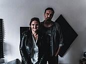 Petr Konečný a Barbora Koukalová