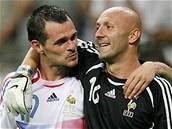 Willy Sagnol a Fabien Barthez