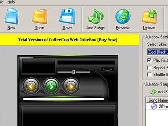 CoffeeCup Web JukeBox