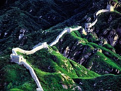Velká čínská zeď, Čína - Nejrozsáhlejší stavba na světě a prý jediná viditelná...