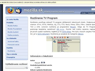 TV program ve Firefoxu