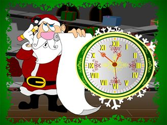 Santa Claus Clock Screensaver 2.3