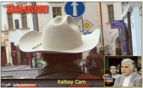 One of the features in the new Kal's Korner reality-based TV show is the Kalboy Cam, shown here as we walk around Prague. Inset, famed Canadian Broadcaster Rob McConnell is one of many international guests who are regulars on the show.