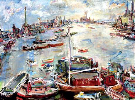 Oskar Kokoschka: London, Chelsea Reach