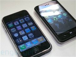 Apple iPhone a jeho konkurent Meizu Mini One M8