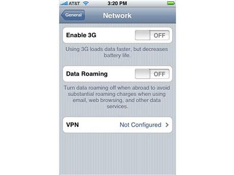 iPhone - podpora 3G ve firmware 2.0