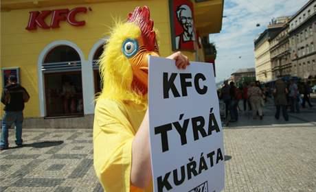Ochránci převlečení za kuřata bránili před KFC práva brojlerů - iDNES.cz ddf372a4ce