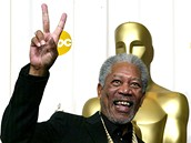 Morgan Freeman s Oscarem za roli ve filmu Million Dollar Baby