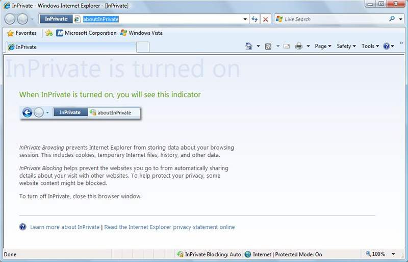 IE8 beta 2: InPrivate