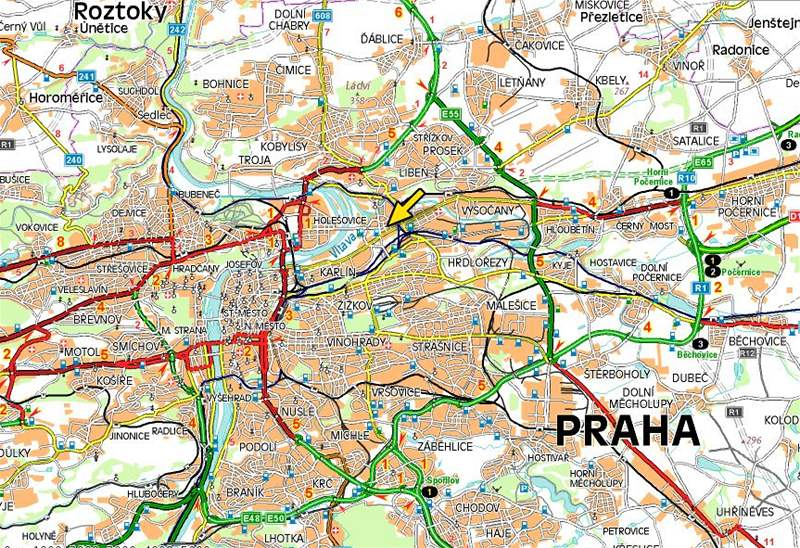 Mapa Mapa Praha 8