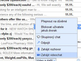 Hlasový a video chat Gmailu