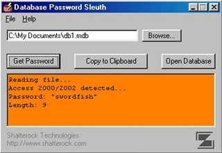 Database Password Sleuth