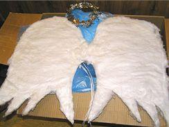 893b4d42748 Andělská křídla vyrobíte i z tvrdého kartónu polepeného vatou