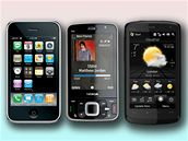iPhone 3G - Nokia N96 - HTC Touch HD