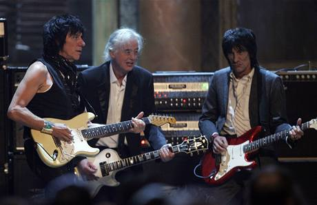 Rockandrollová síň slávy 2009: Jeff Beck, Jimmy Page, Ron Wood