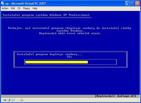 Virtual PC 2007 - Instalace
