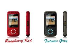 Sony Ericsson F305 Raspberry Red a Tectonic Grey