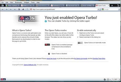 Nová betaverze prohlížeče Opera nabízí turbo brouzdání a