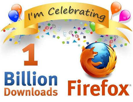 Server SpreadFirefox.com slaví jednu miliardu downloadů