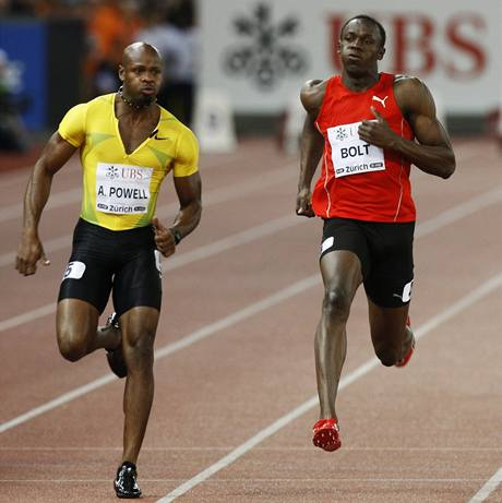 Asafa Powell a Usain Bolt