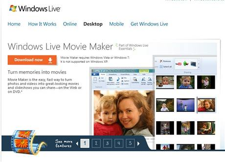 Stáhněte si Windows Live Movie Maker