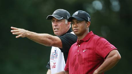 Tiger Woods a Steve Williams