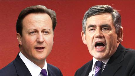 David Cameron a Gordon Brown