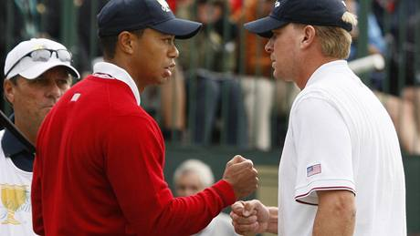 Presidents Cup 2009 - Tiger Woods a Steve Stricker (USA), 1. kolo