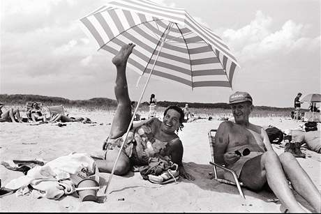 My Parents, Peter's Pond Beach, Wainscott, Long Island, 1992