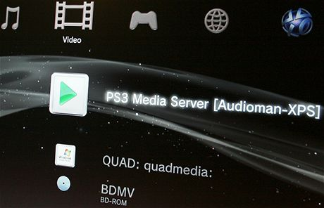 PS3 MediaCentre screen