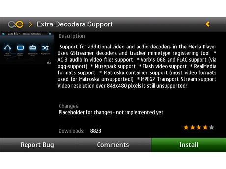Aplikace pro Nokia N900 - Extra Decoders Support