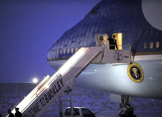 Barack Obama na palubě Air Force One