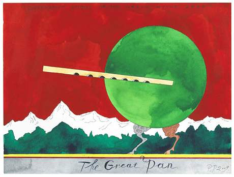 Dílo Pavla Peppersteina The Great Pan (Suprematist Studies of the Great Myths)