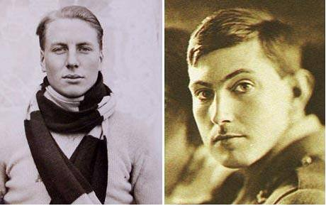Horolezci Andrew Irvine (vlevo) a George Mallory