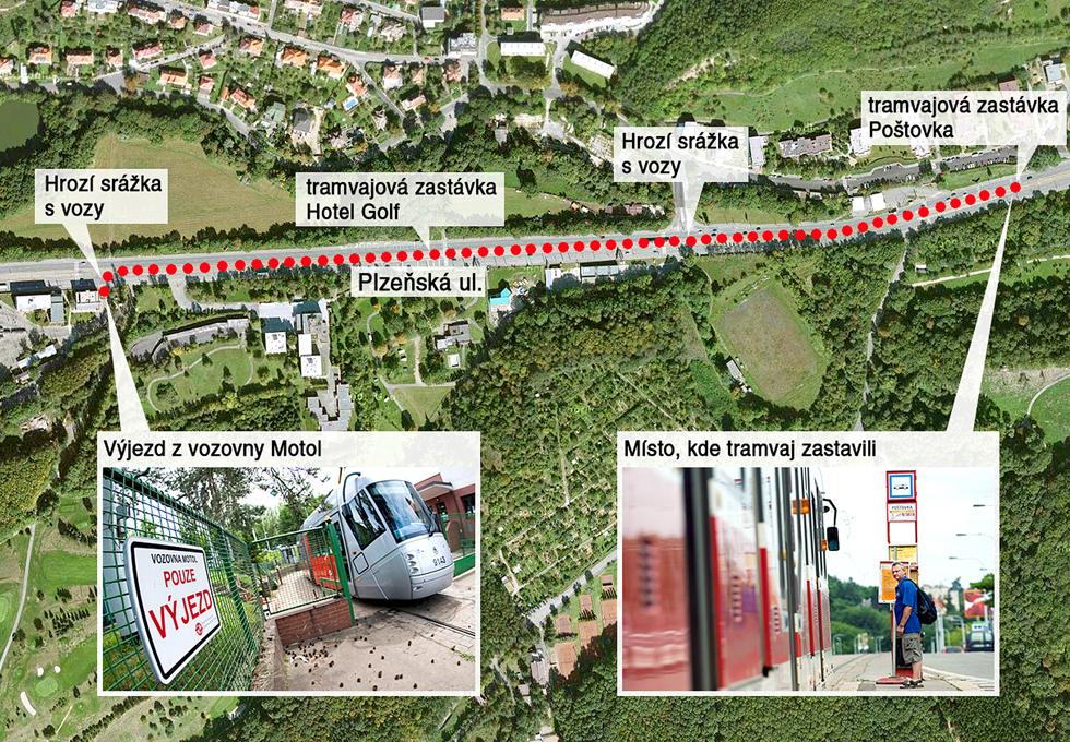 Kudy jela prázdná tramvaj